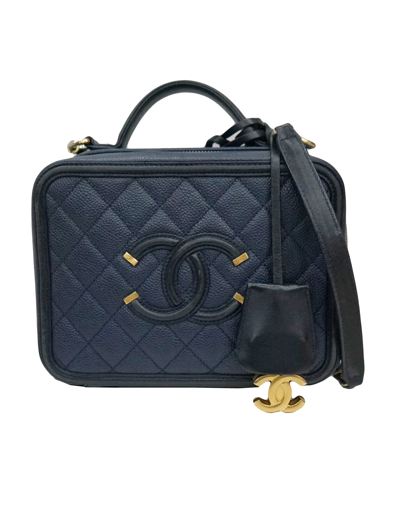 1a194caa645e Home / Bags for Mumz / CHANEL CAVIAR QUILTED CC FILIGREE VANITY CASE.  CAVIAR QUILTED CC FILIGREE VANITY CASE