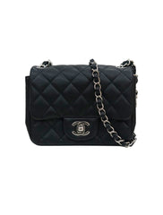 BLACK CAVIAR QUILTED SHOULDER BAG