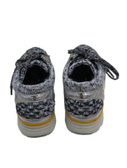 MONOCHROME TWEED METALLIC SNEAKERS