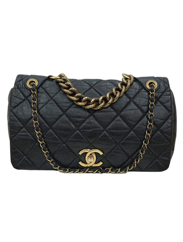 CLASSIC FLAP PONDICHER QUILTED AGED BAG