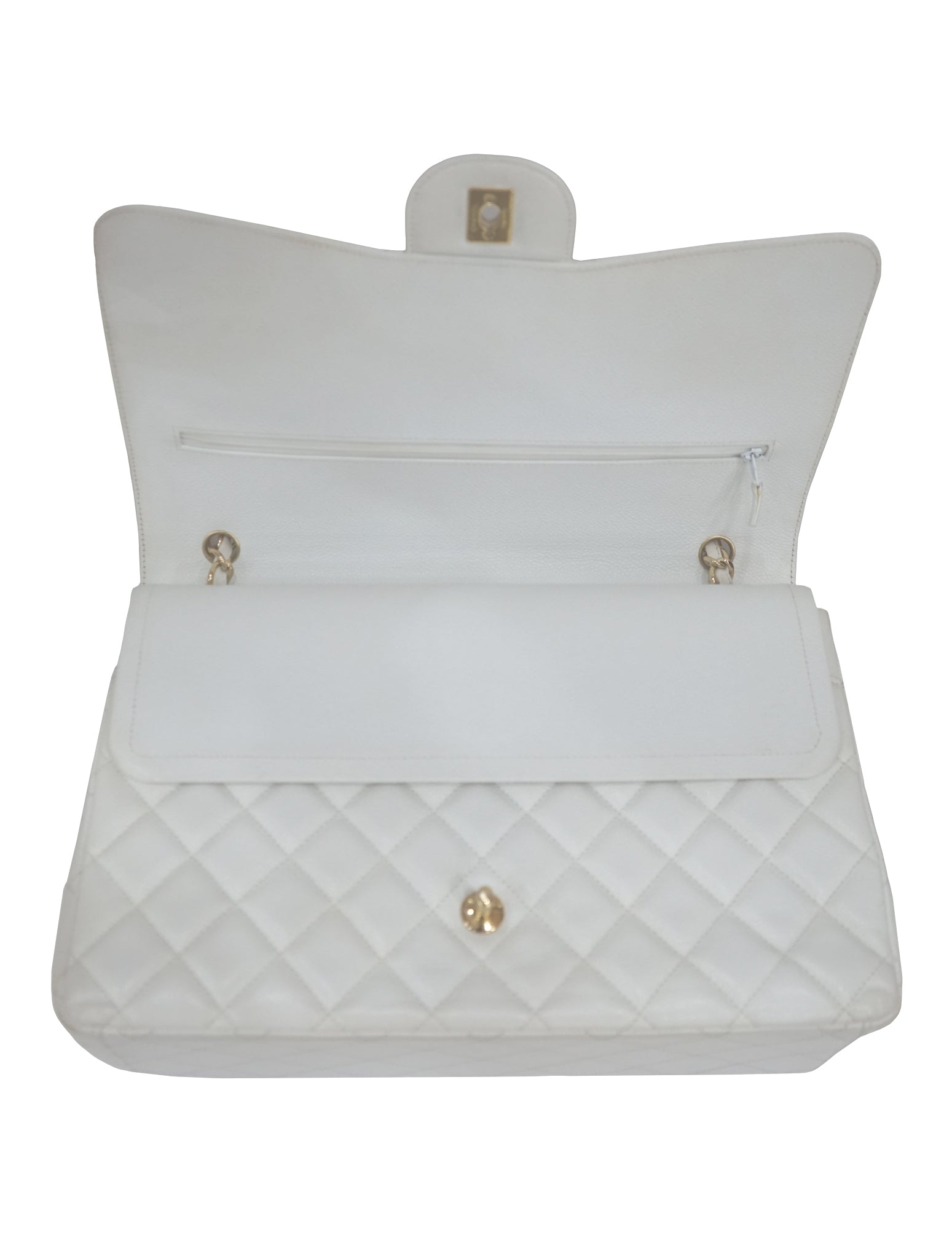 QUILTED CAVIAR LEATHER CLASSIC DOUBLE FLAP