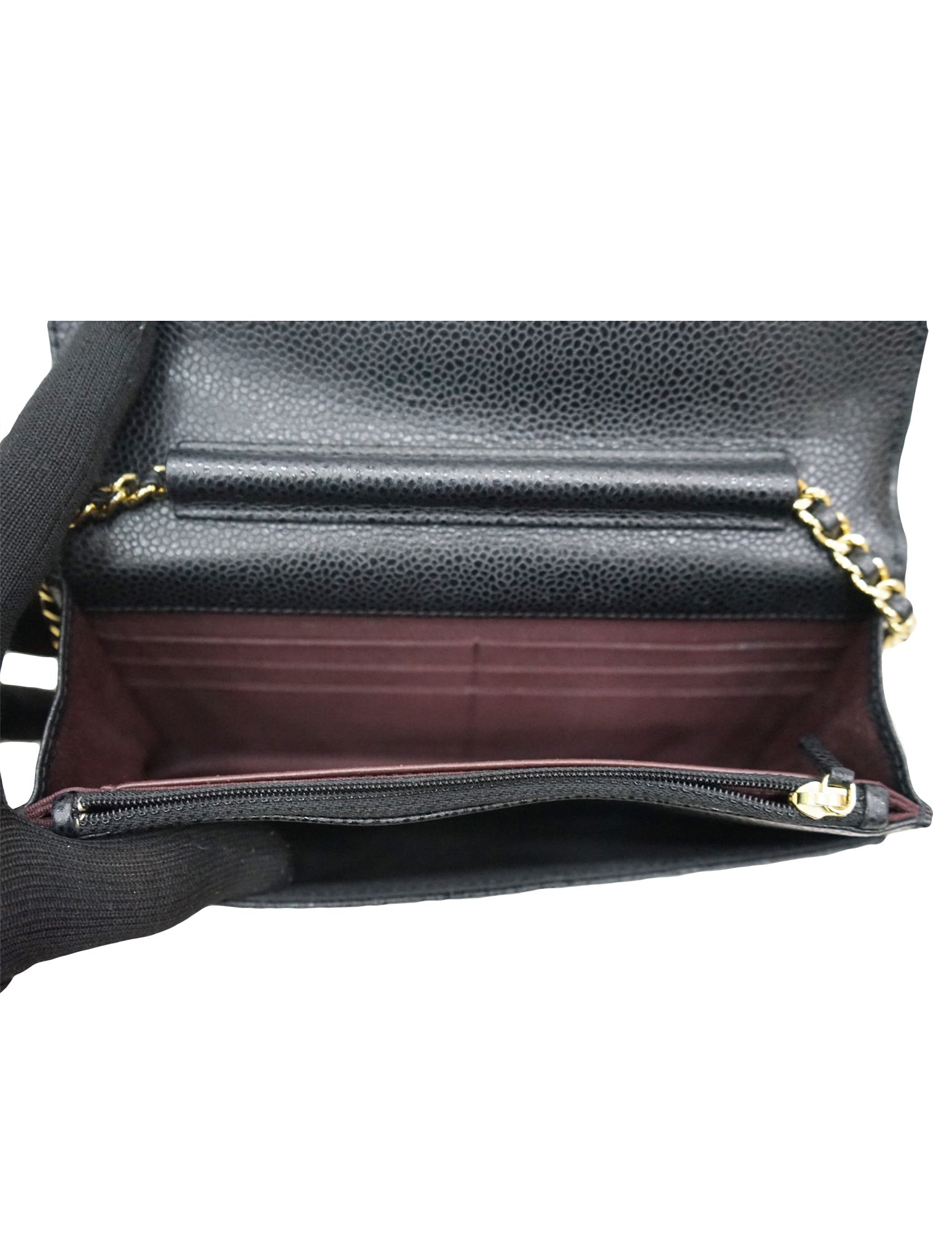 GOLD  HARDWARE CAVIAR LEATHER WOC