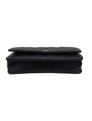 QUILTED CAVIAR LEATHER WOC CLUTCH BAG