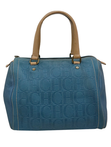 BLUE LEATHER ANDY BOSTON BAG