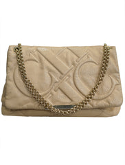 QUILTED LEATHER FLAP CHAIN SHOULDER BAG