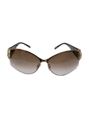 GRADIENT CRYSTAL EMBELLISHED  SUNGLASSES
