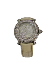BEIGE MOTHER OF PEARL DIAMOND WATCH