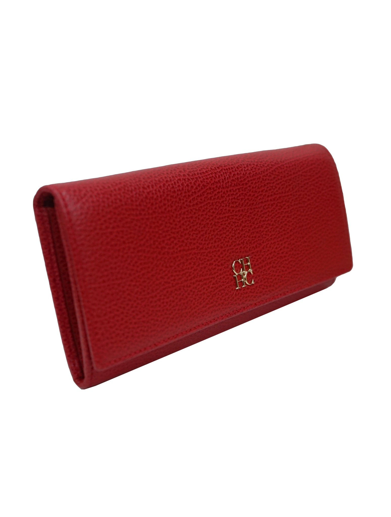 RED LEATHER CONTINENTAL WALLET