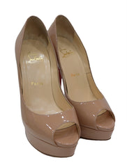 PATENT LEATHER LADY PEEP TOE PLATFORMS