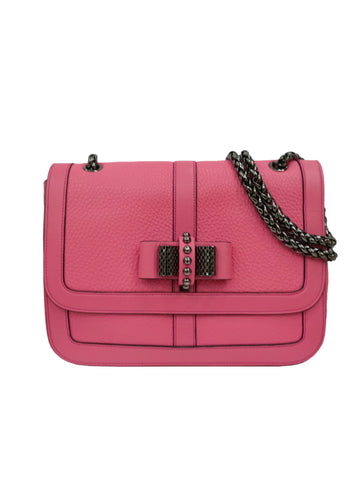 LEATHER SWEET CHARITY BOW DETAIL FLAP BAG