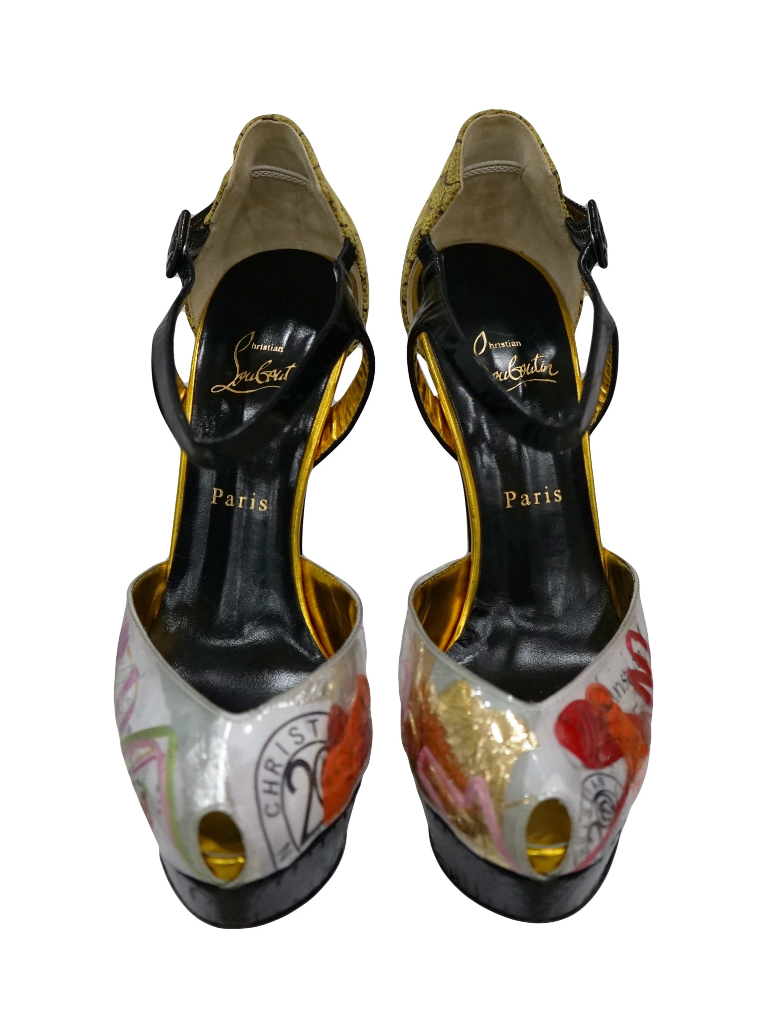 PVC ECO TRASH PEEP TOE PUMPS