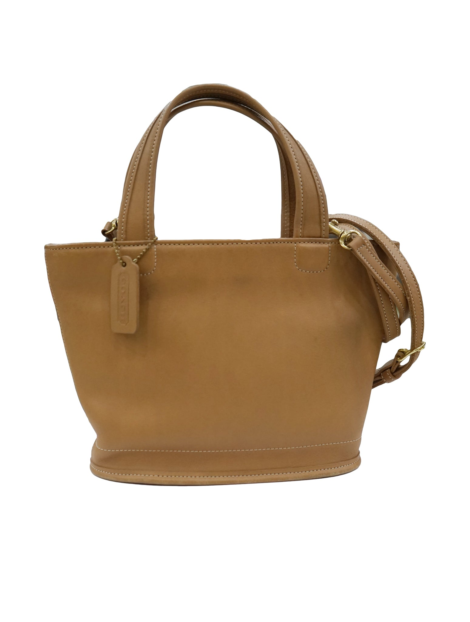 LEATHER NORTH SOUTH TOP HANDLE BAG