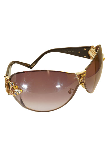 SCH 805S EMBELLISHED SHIELD SUNGLASSES