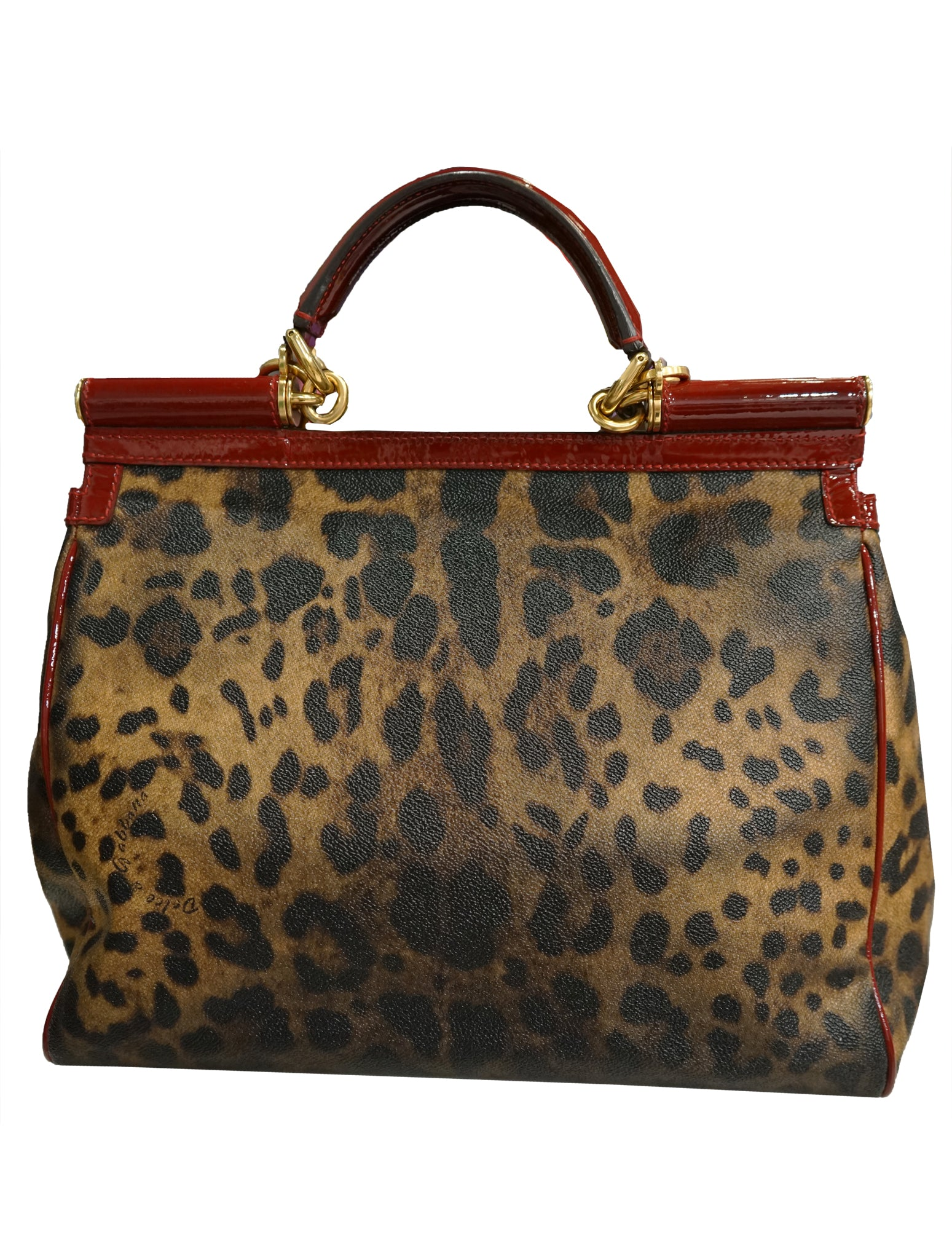 LEOPARD PRINT COATED CANVAS MEDIUM