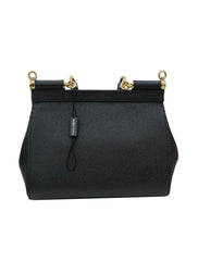 EMBELLISHED HANDLE LEATHER SICILY BAG