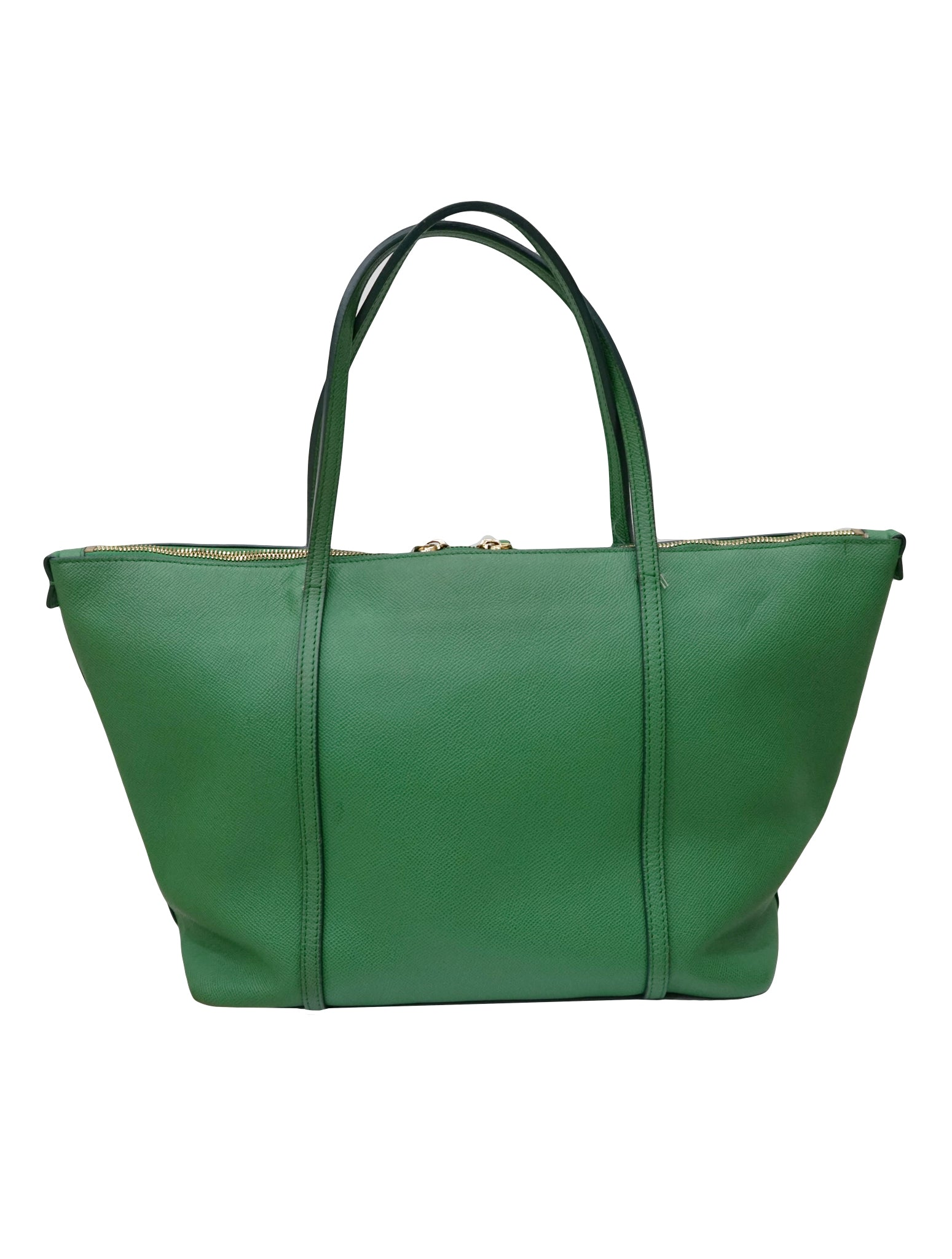GREEN LEATHER MISS ESCAPE TOTE BAG