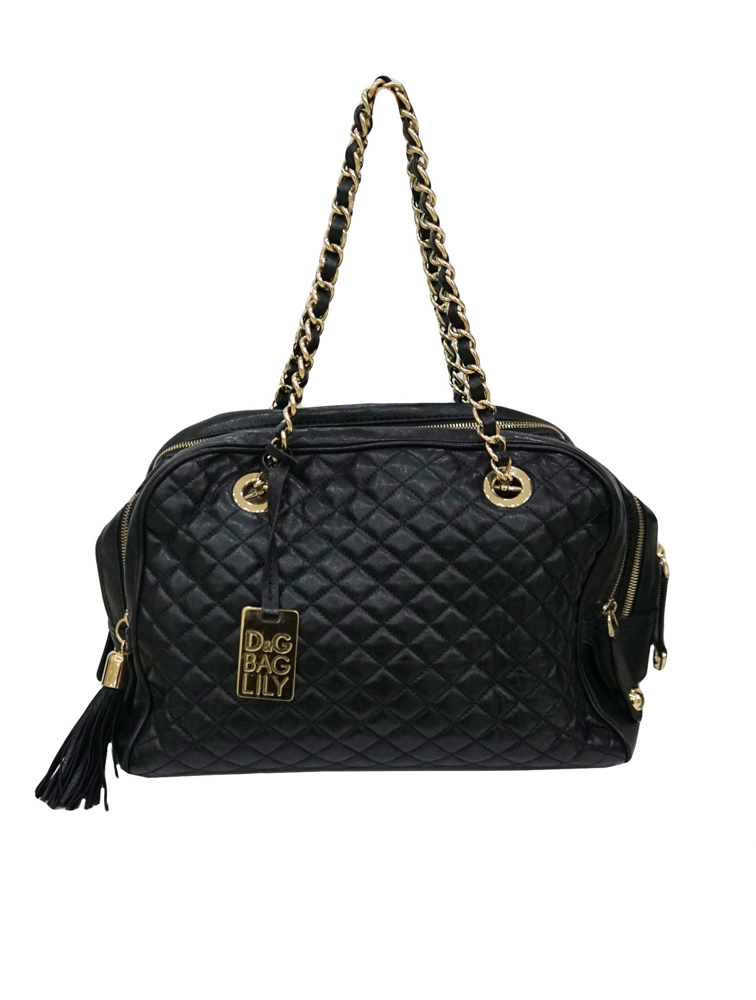 DOLCE   GABBANA LILY BLACK QUILTED BAG – Kidsstyleforless 4f7080fad0