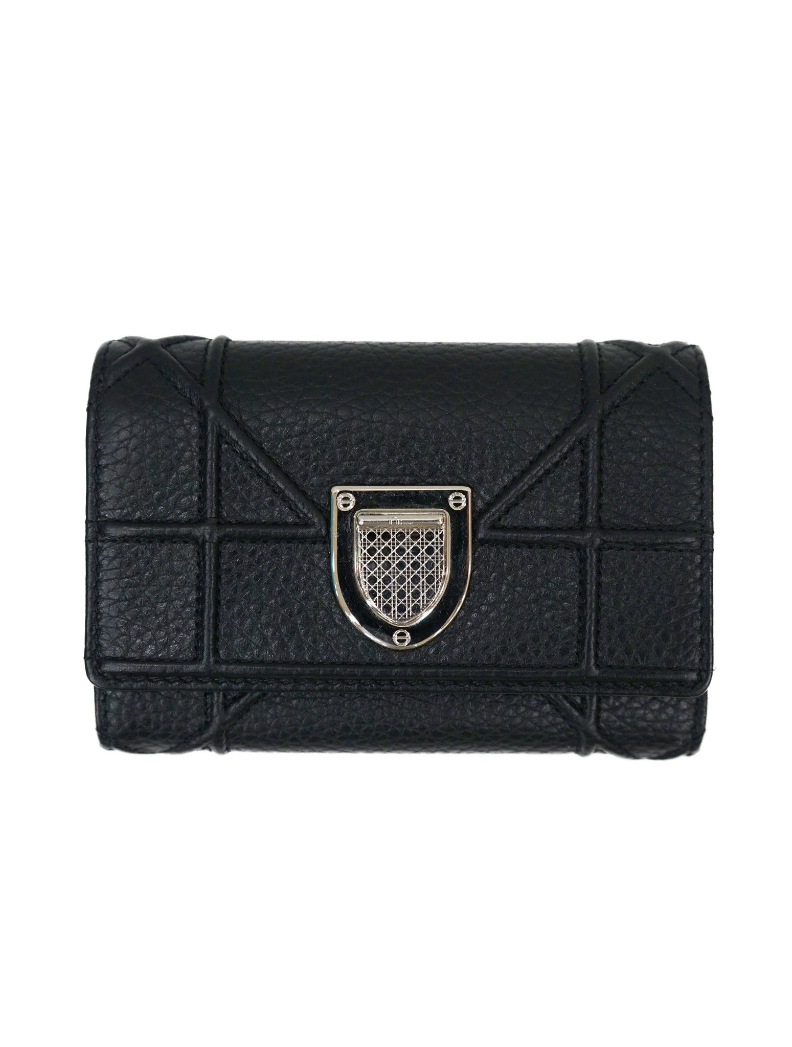 LEATHER DIORAMA ELANCEE FLAP WALLET