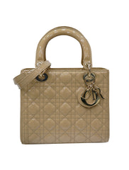 PATENT LEATHER LADY DIOR TOTE BAG