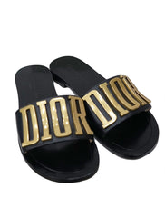 LOGO DIOREVOLUTION MULE SLIDE SANDALS