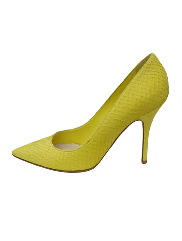 SNAKESKIN EFFECT SUEDE PUMPS