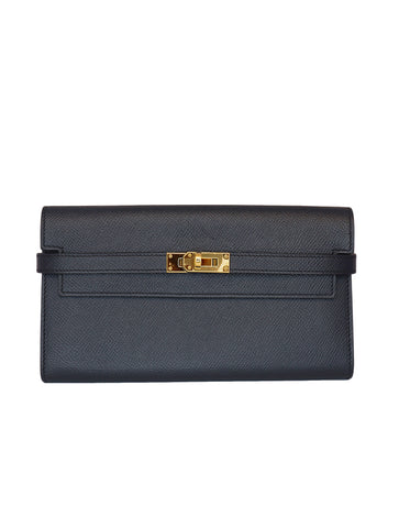 DARK BLUE KELLY CLASSIC WALLET