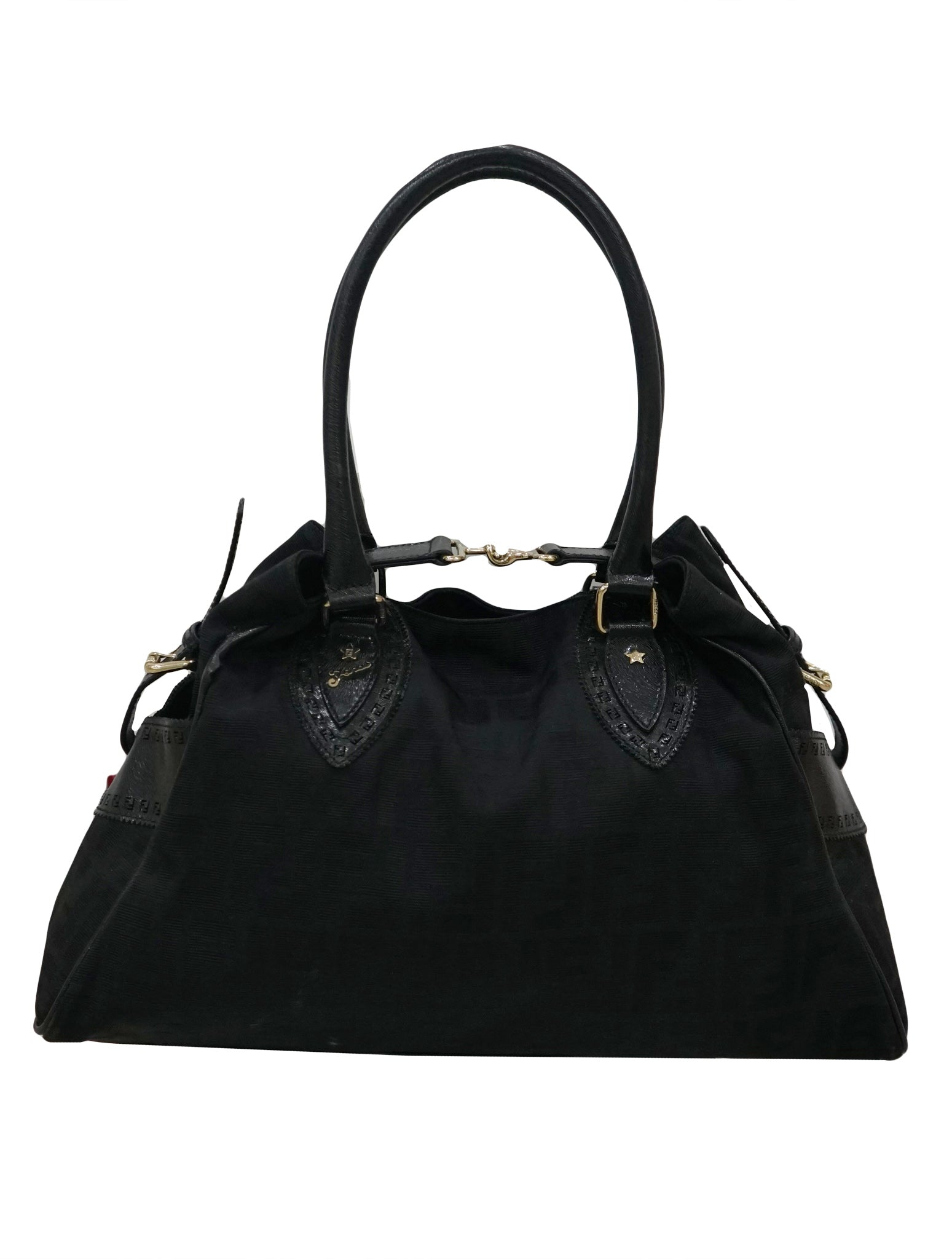 d65640d842d1 FENDI ZUCCA FABRIC AND PATENT LEATHER DU JOUR TOTE – Kidsstyleforless