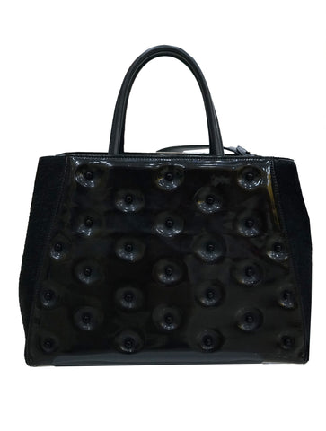 PATENT LEATHER CALFHAIR 2JOURS ELITE TOTE