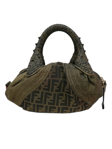 ZUCCA PRINT LEATHER BABY SPY BAG