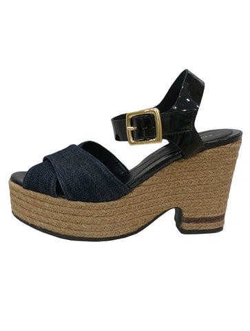 PENNY LOAFER STRAP PLATFORM SANDALS