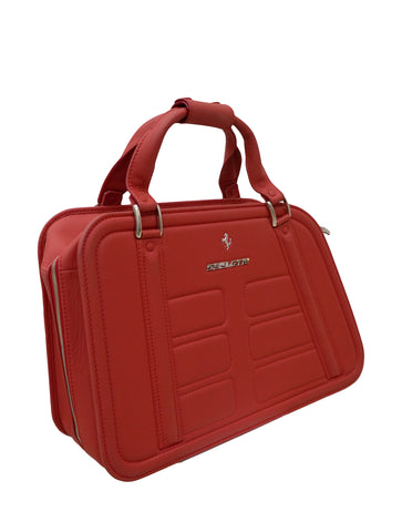 RED LEATHER 599 GTB TRAVEL BAG