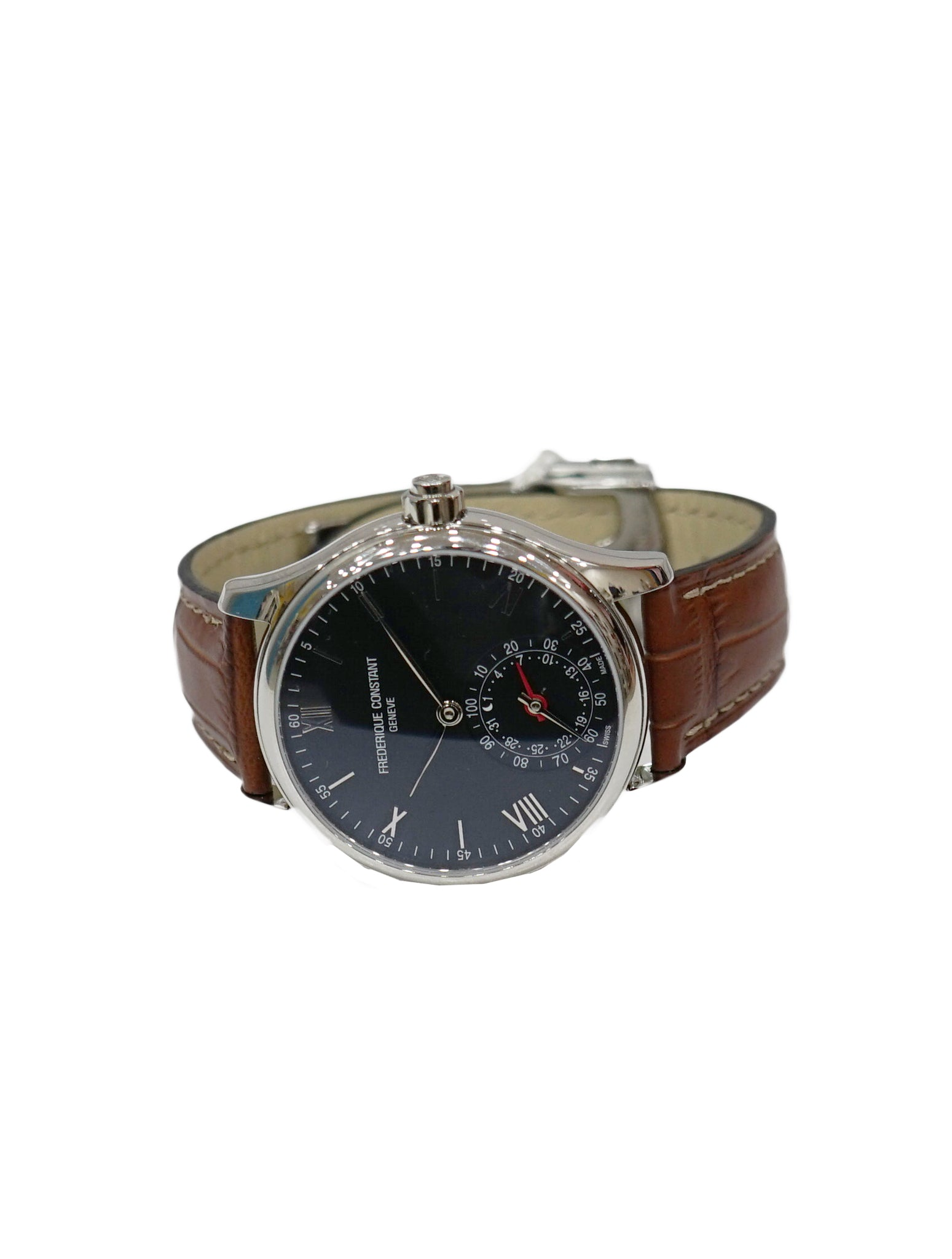 BROWN LEATHER HOROLOGICAL SMARTWATCH