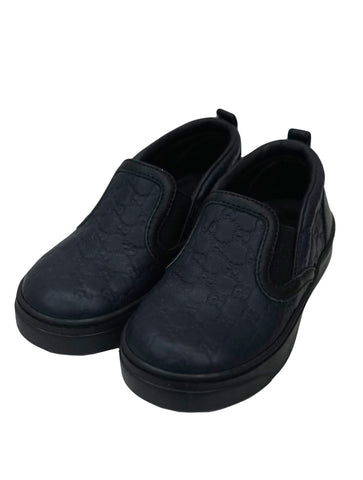 ACE BLACK LEATHER SLIP-ON SNEAKER