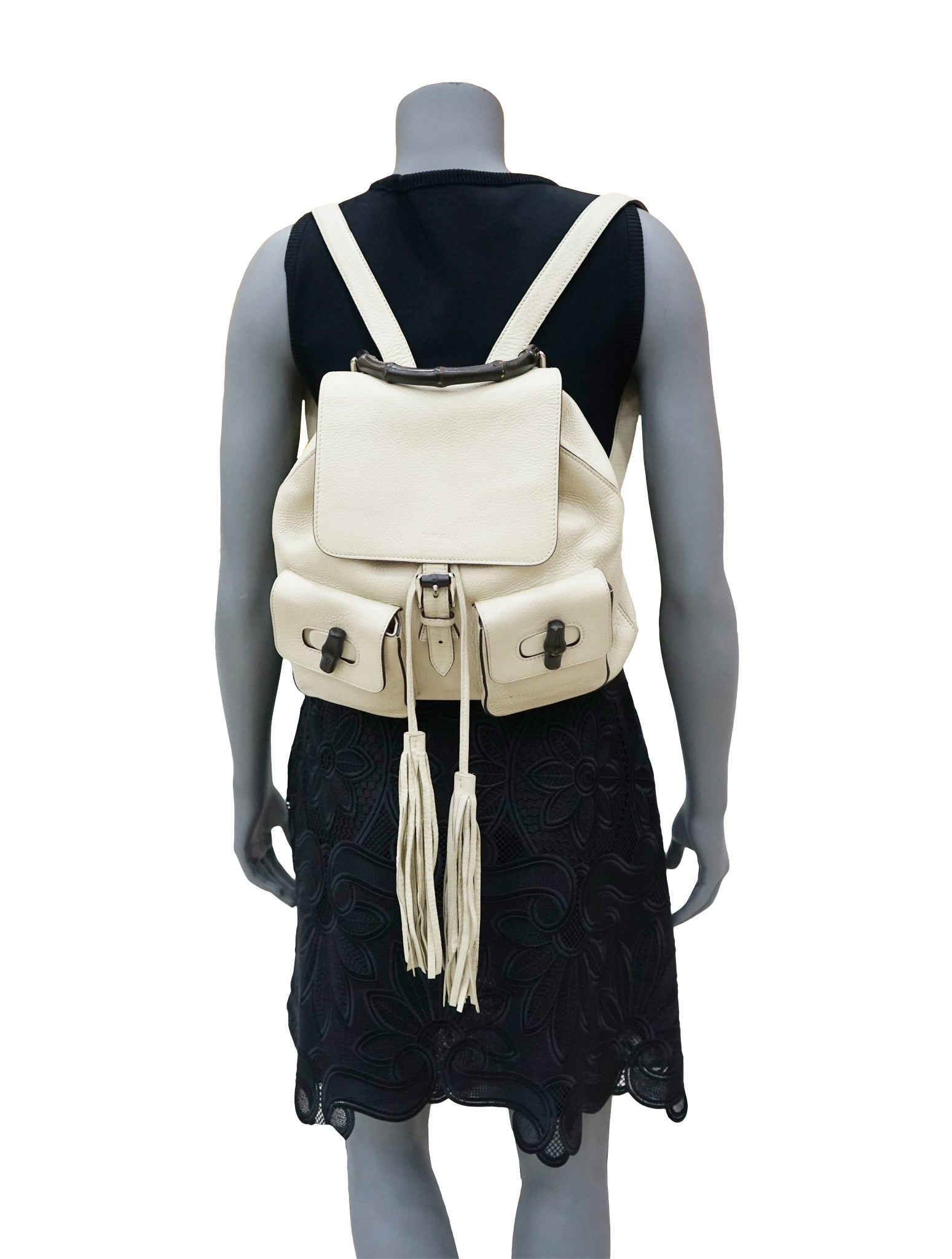 BAMBOO HANDLE POCKET TOGGLE BACKPACK