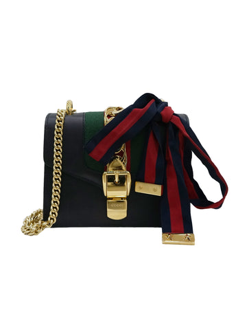 BLACK SYLVIE MINI CHAIN SHOULDER BAG