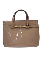 PATENT BRIGHT BRIT JASMINE TOP HANDLE BAG