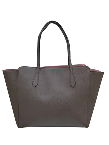 LEATHER SWING TOTE BAG