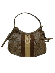 GG CRYSTAL COATED CANVAS HOBO BAG