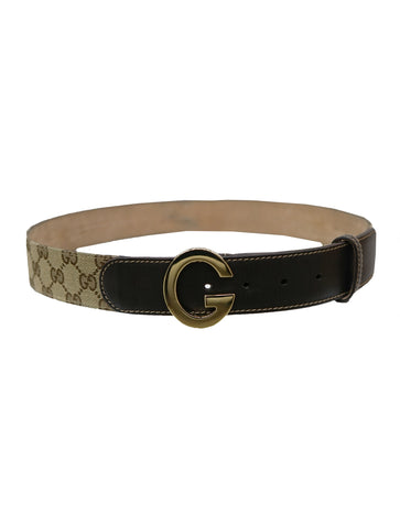 G BUCKLE MONOGRAM BELT