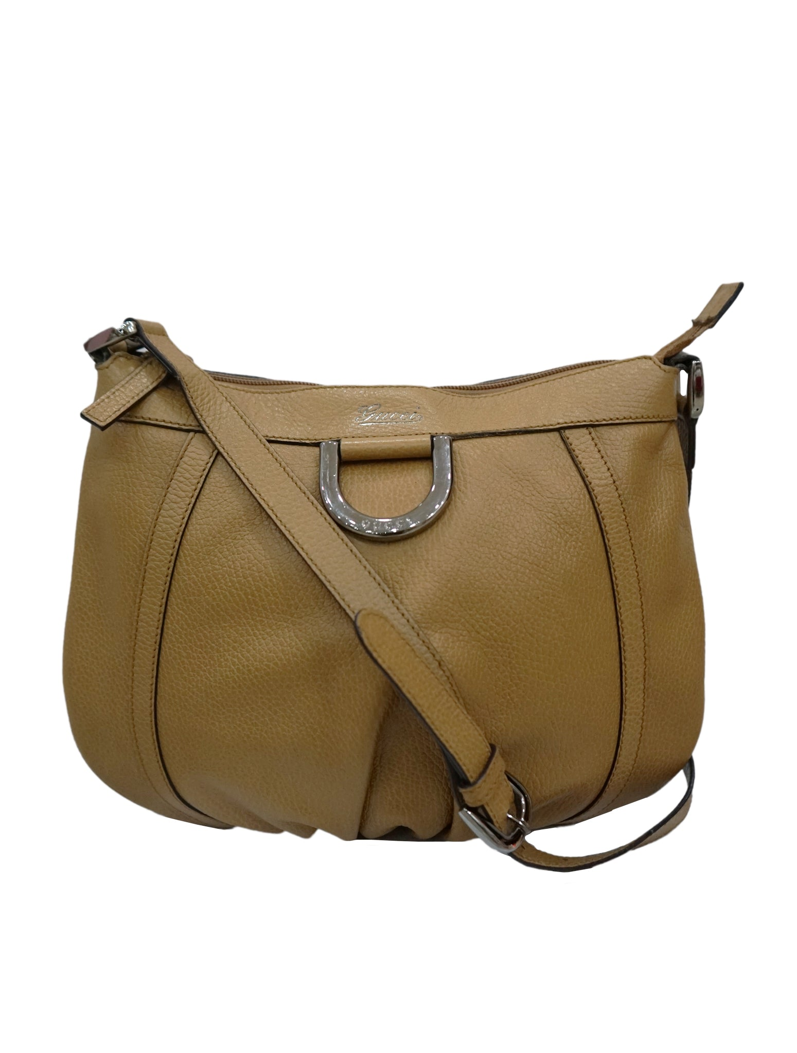 BROWN ABBEY VINTAGE HOBO BAG