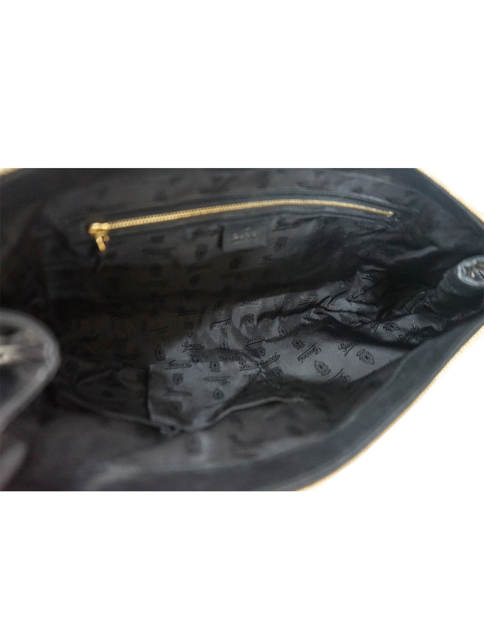 BLACK LEATHER HYSTERIA CLUTCH BAG