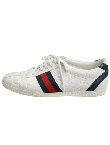 GUCCISSIMA LEATHER LACE-UP SNEAKER