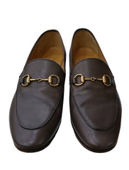 BROWN LEATHER JORDAAN HORSEBIT LOAFERS