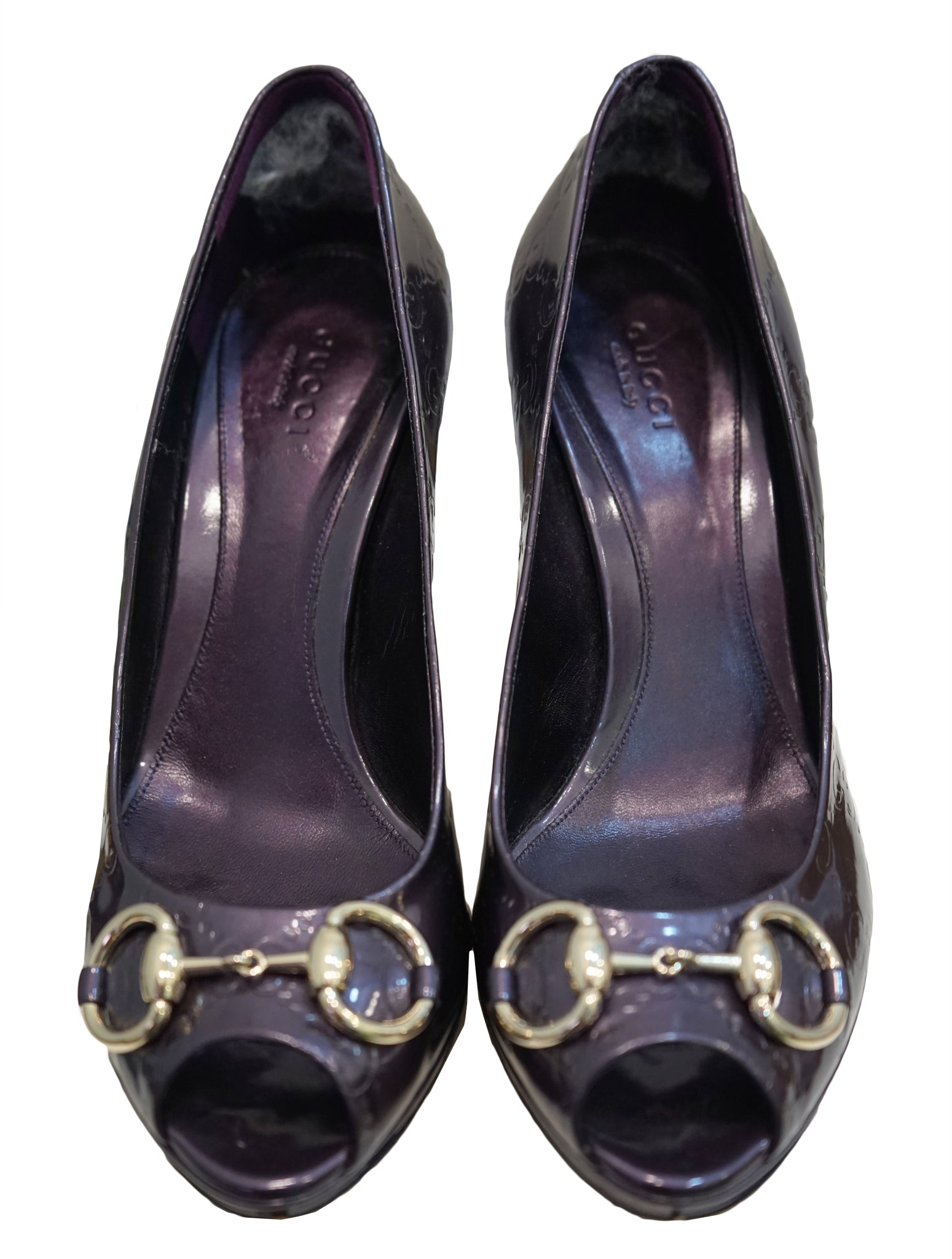 NEW HOLLYWOOD HORSEBIT PEEP TOE PUMPS