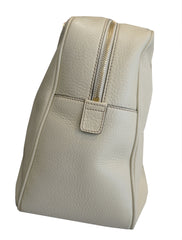 WHITE SOHO LEATHER CHAIN SHOULDER BAG