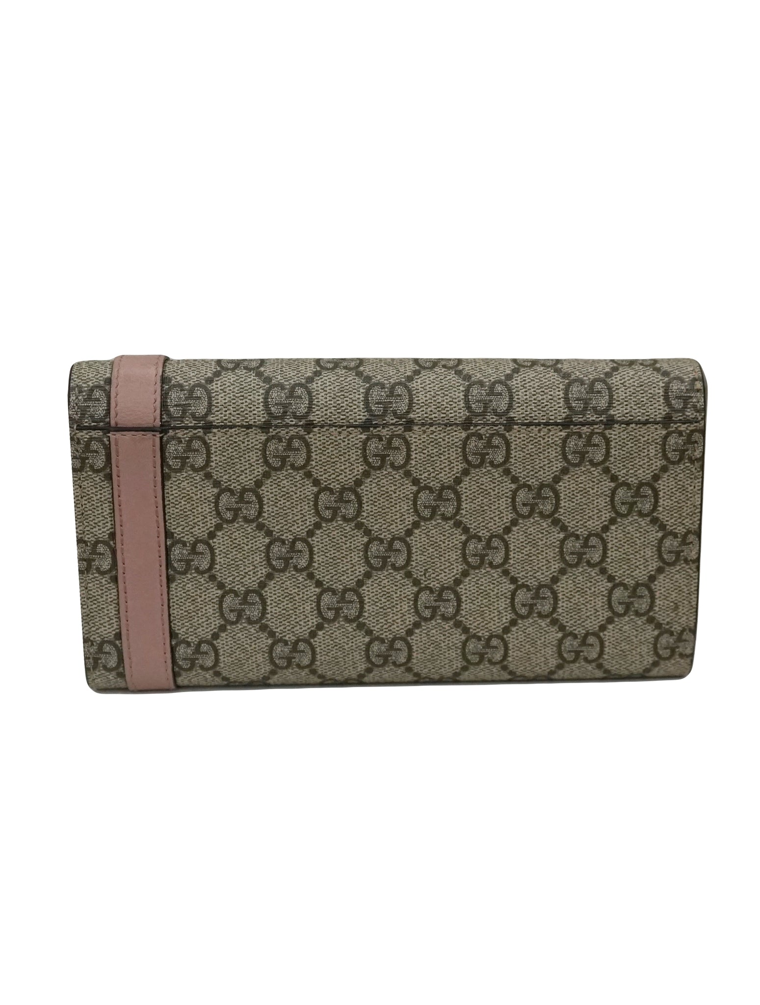 GG SUPREME CANVAS CONTINENTAL WALLET