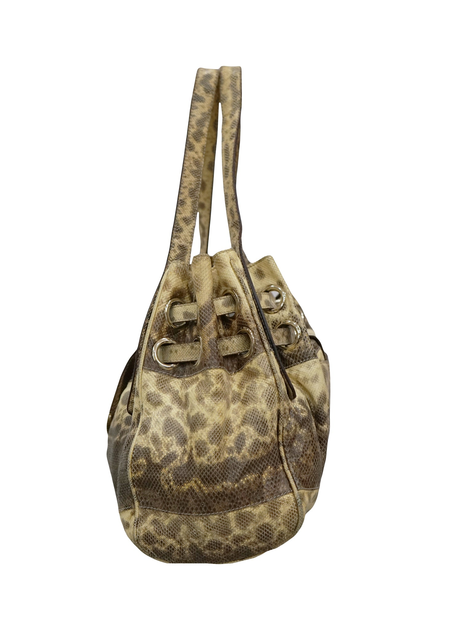 RIKI SNAKE SKIN SHOPPER BAG W/ WALLET