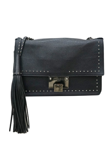 BLACK STUDDED REBEL SHOULDER BAG
