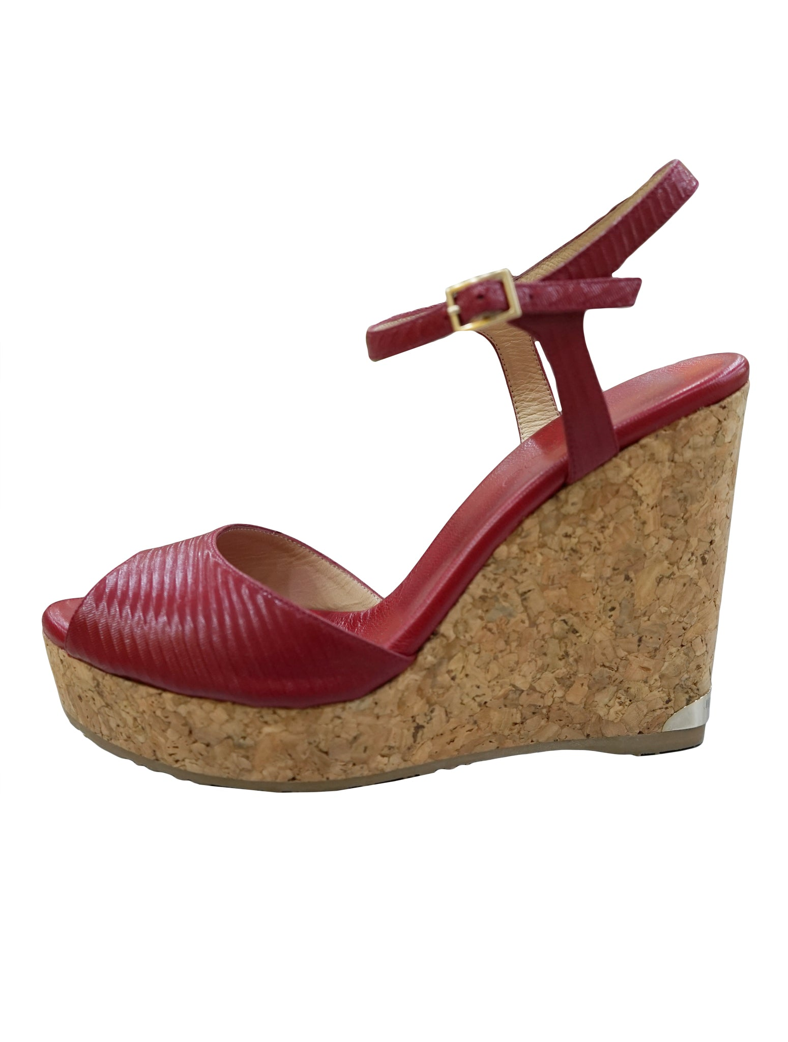 PELA PATENT LEATHER STRAP CORK WEDGE