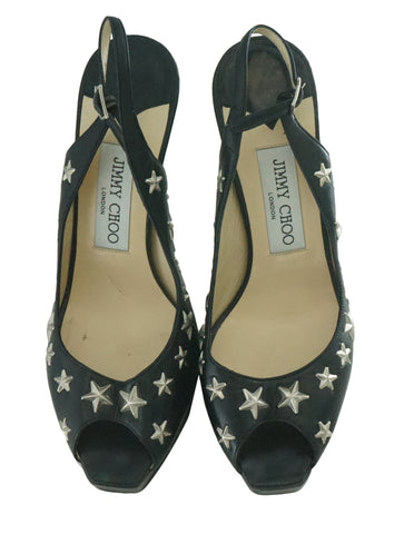 STAR STUDDED LEATHER SANDALS